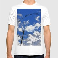 Birds Flying High Mens Fitted Tee White SMALL