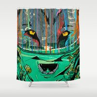 Wolf Mother - Screen Pri… Shower Curtain
