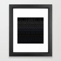 Greek   Metallic Framed Art Print