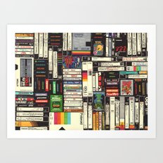 Cassettes, VHS & Atari Art Print