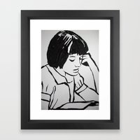 Scout reading.. Framed Art Print