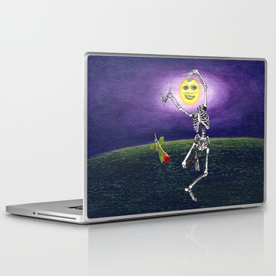 Skeleton Moon Laptop & iPad Skin
