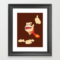 Donkey Kong - Minimalist… Framed Art Print