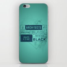 Architects wear black iPhone & iPod Skin