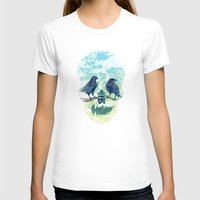 skull T-shirts featuring Nature's Skull by Rachel Caldwell