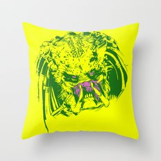 Predator (neon) Throw Pillow