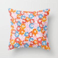 Morning Glory - Pink Multi Throw Pillow