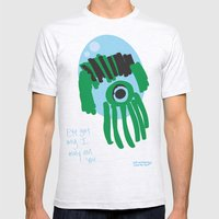 my eye is only on you [SQUID] [EYE]  Mens Fitted Tee Ash Grey SMALL