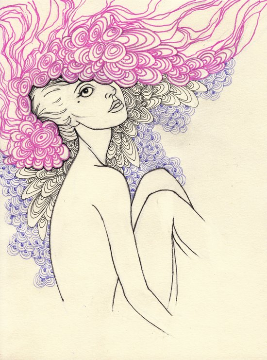 pink feathers Art Print