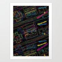 Ness Control Pattern Art Print
