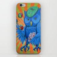 Juggling Card Playing Owl iPhone & iPod Skin