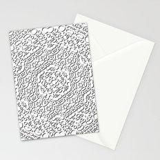 mandala curls Stationery Cards
