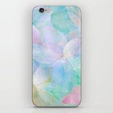 Pastel Colored Leaf Skeletons iPhone & iPod Skin