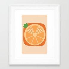 Orange Heart Framed Art Print