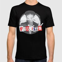 FASCISTS Mens Fitted Tee Black SMALL
