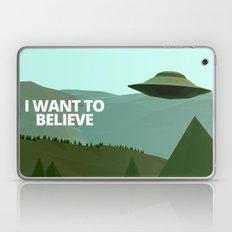 I want to believe low-poly ufo Laptop & iPad Skin