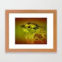 Amber Bird Framed Art Print