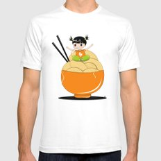 noodle..noodle.. noodle!!! Mens Fitted Tee SMALL White