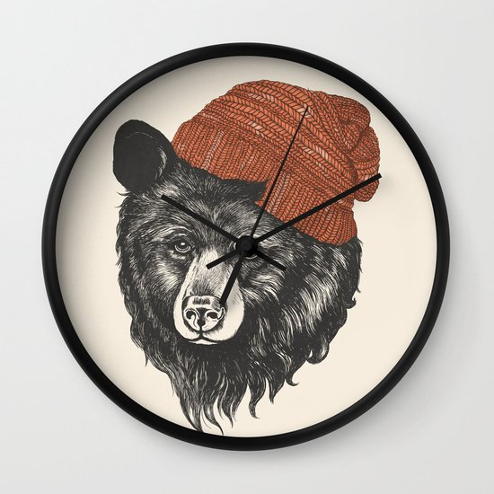 zissou the bear Wall Clock