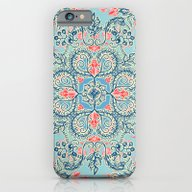 iPhone & iPod Case featuring Gypsy Floral In Red & Bl… by Micklyn