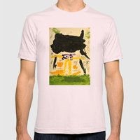 Black Rain Mens Fitted Tee Light Pink SMALL
