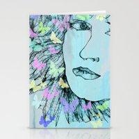 Butterfly Girl  - JUSTART © Stationery Cards