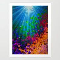 UNDER THE SEA Bold Color… Art Print