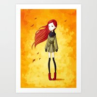 Autumn Breeze Art Print