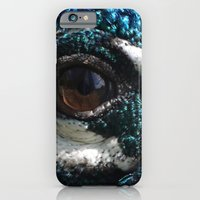 iPhone & iPod Case featuring Peacock Eye by Kitty Judge