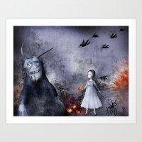 halloween Art Prints featuring Halloween by Sona