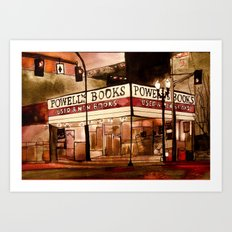 Portland's Powell's Art Print