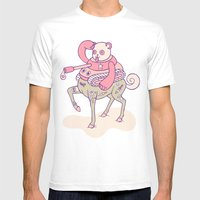 Pandatankhorse Mens Fitted Tee White SMALL