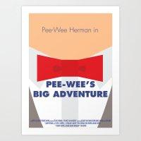 Pee-wee's Big Adventure … Art Print
