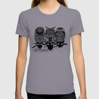Owls Of The Nile Womens Fitted Tee Slate SMALL