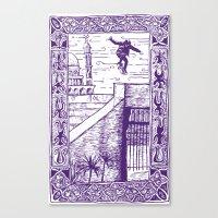 Ali Boulala, Skateboard … Canvas Print