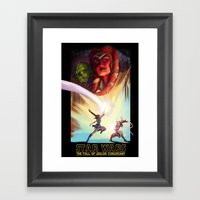 The Fall Of Coruscant Framed Art Print