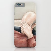 iPhone & iPod Case featuring Picard Facepalm Meme by Olechka