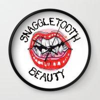 Snaggletooth Beauty Wall Clock
