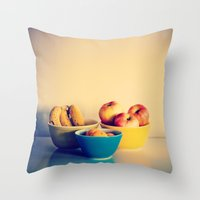 Bowl of Fruit Throw Pillow