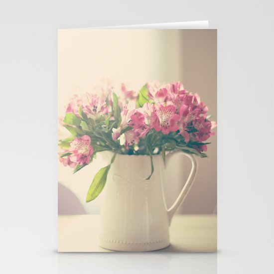 Mother's Flowers Arrangement  Stationery Card