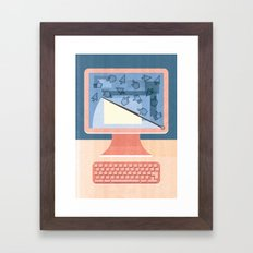Dealing With Spam Framed Art Print