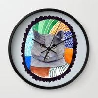 KITTY / GREY Wall Clock