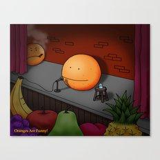 Orange Stand-up Comedy Club Canvas Print