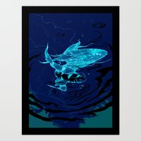 Flish - The Fastest Fish and the Infinite Underwater Crisis Art Print