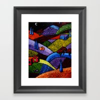 New Mexico Landscape Pai… Framed Art Print
