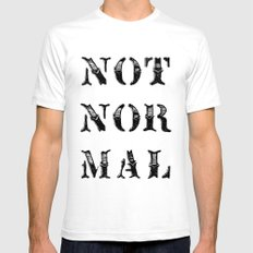 NOT NOR MAL Mens Fitted Tee SMALL White