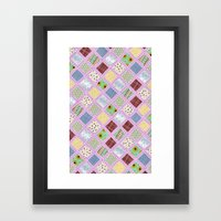 Granny's Blanket Framed Art Print