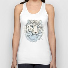 Young White Tiger  Unisex Tank Top