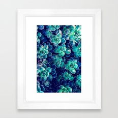Plants Of Blue And Green Framed Art Print