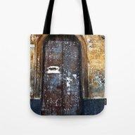 Old Sicilian Door Of Cat… Tote Bag